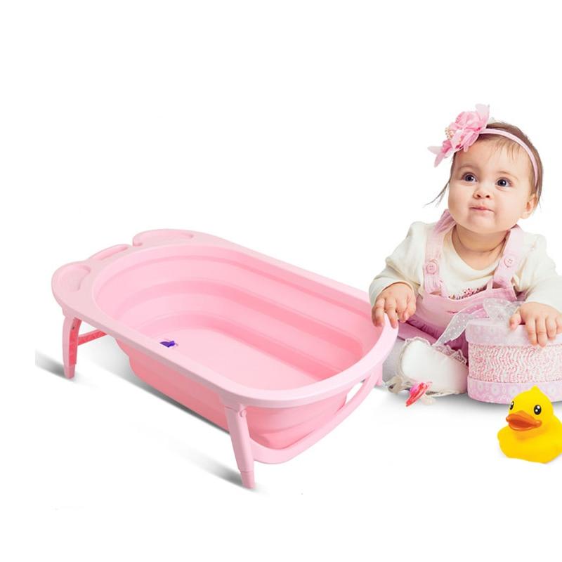 Förtjockad Folding Babybadkar Barnbadkar Babybad Stort barn kan - Barnomsorg - Foto 6
