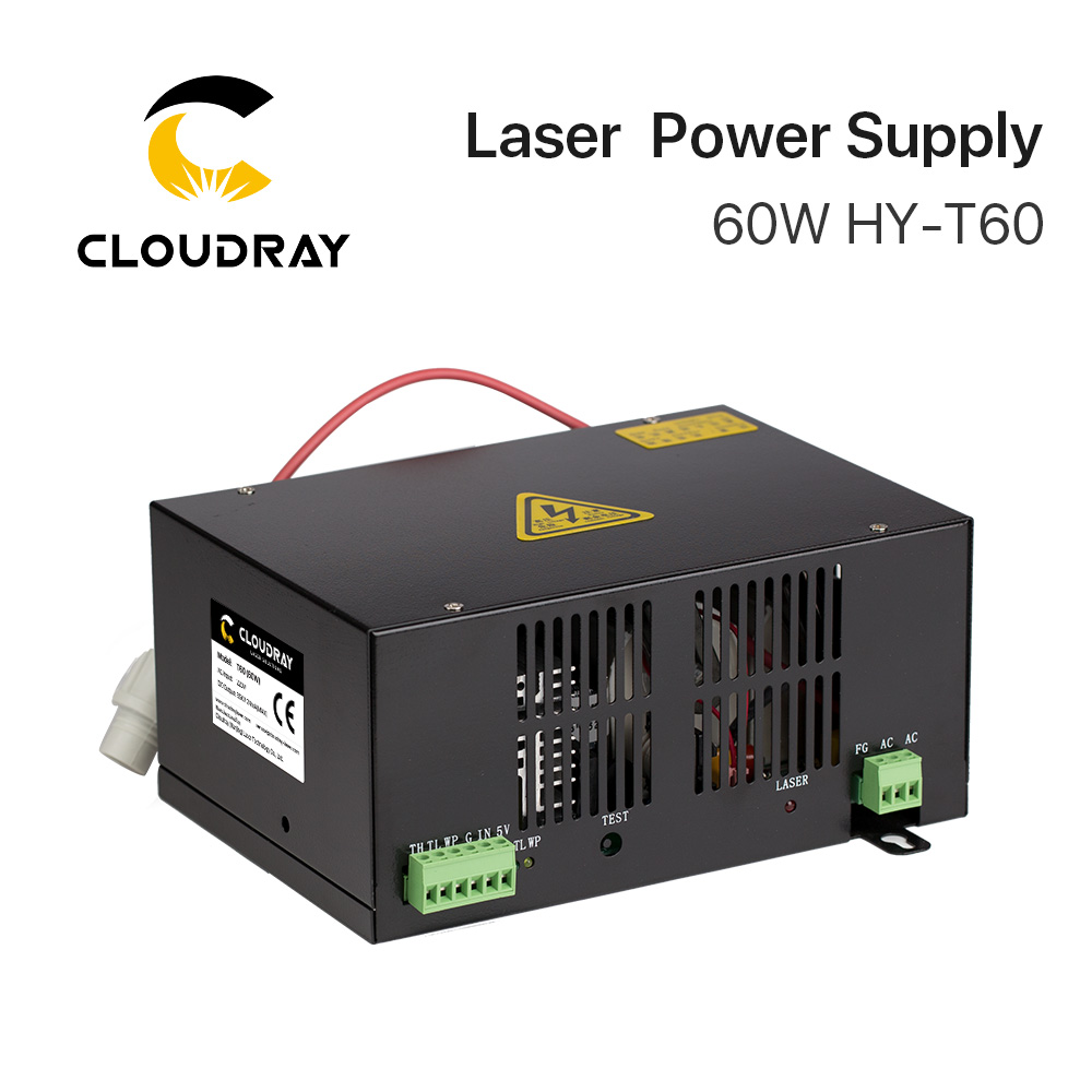 Cloudray 60W CO2 Laser Power Supply for CO2 Laser Engraving Cutting Machine HY-T60 T / W Series