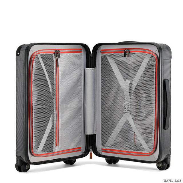"TRAVEL TALE new men and women spinner 20"" trolley suitcase 24"" abs rolling luggage bags for traveling 4"