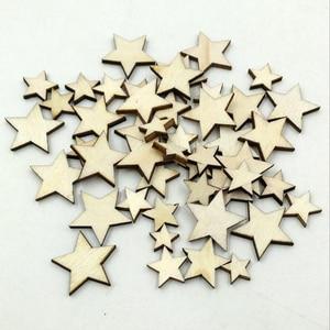 Großhandel 100 Stücke Romatic Stil Holz Stern Spanplatten Mode Holz Hause Dekorationen DIY Weihnachten Party Scrapbooking 10-20mm