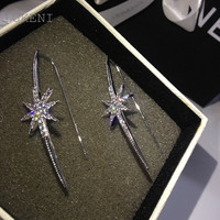 LUKENI New Design Personality Micro Inlay AAA+Zircon Club Queen Sexy Big Earrings For Women Fashion Jewelry