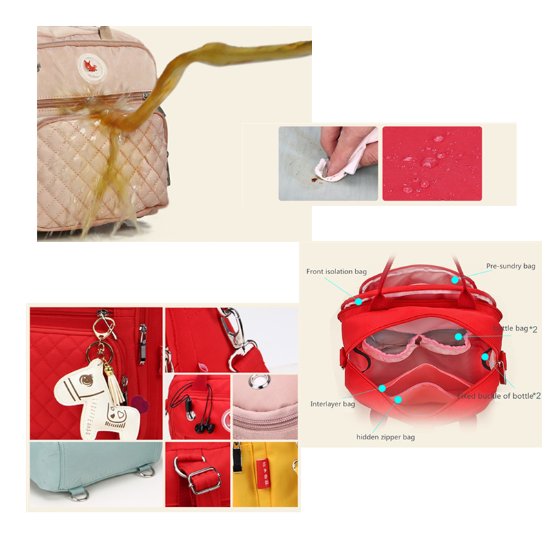 Baby Diaper Bag Mom Diaper Backpack Multi-usage Mummy Maternity Nursing Bag Wash-free Waterproof Nappy Bag Stroller Organizer