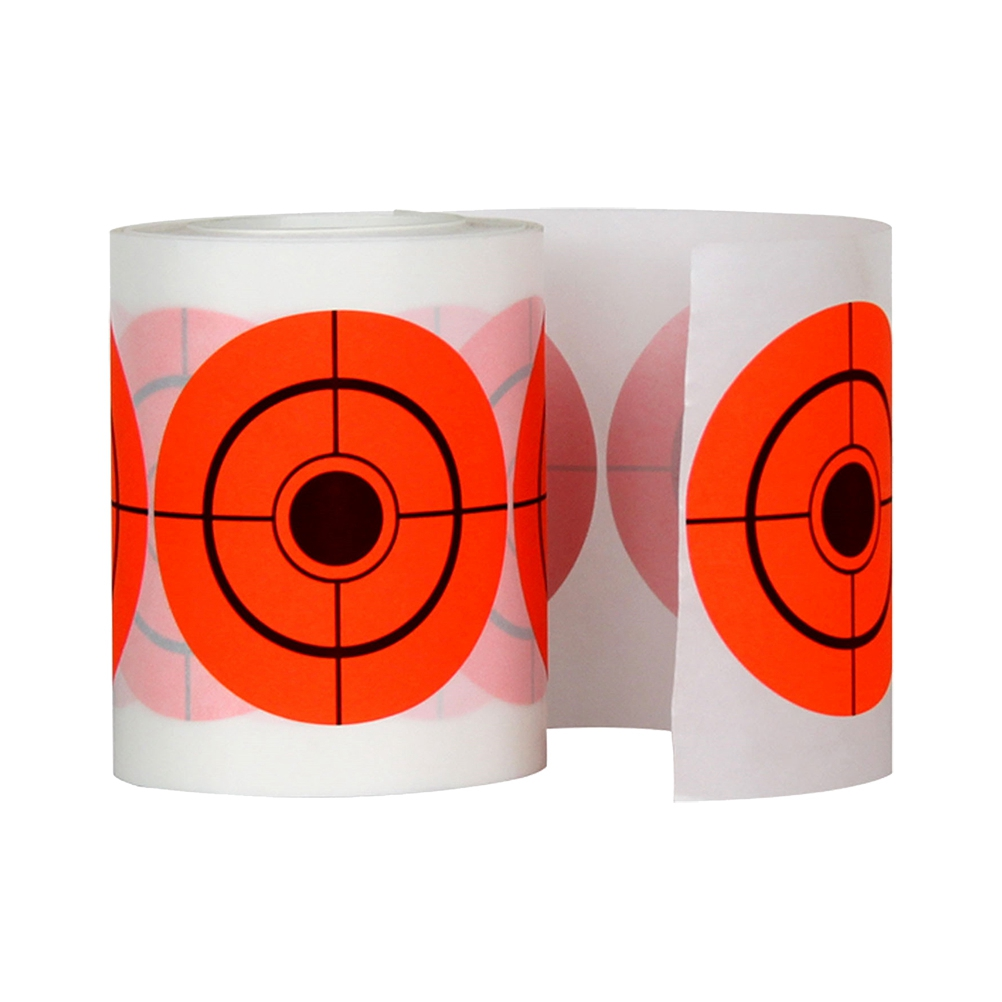 250Pcs 7.5 Diameter Adhesive Shooting Target Round Splatter Sticker Target Shooting Portable Field Target Roll Shoot Accessories