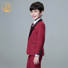 5pcs/Set Boys Suits For Weddings Kids Prom Suits Wedding Suits Kids Blazers Boys Clothing Set Boy Formal Classic Costume