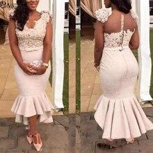 플러스 사이즈 이브닝 드레스 인어 Vestido 드 페스타 레이스 이브닝 드레스 페르시 2020 로브 드 soiree 아프리카 정식 가운 파티 드레스