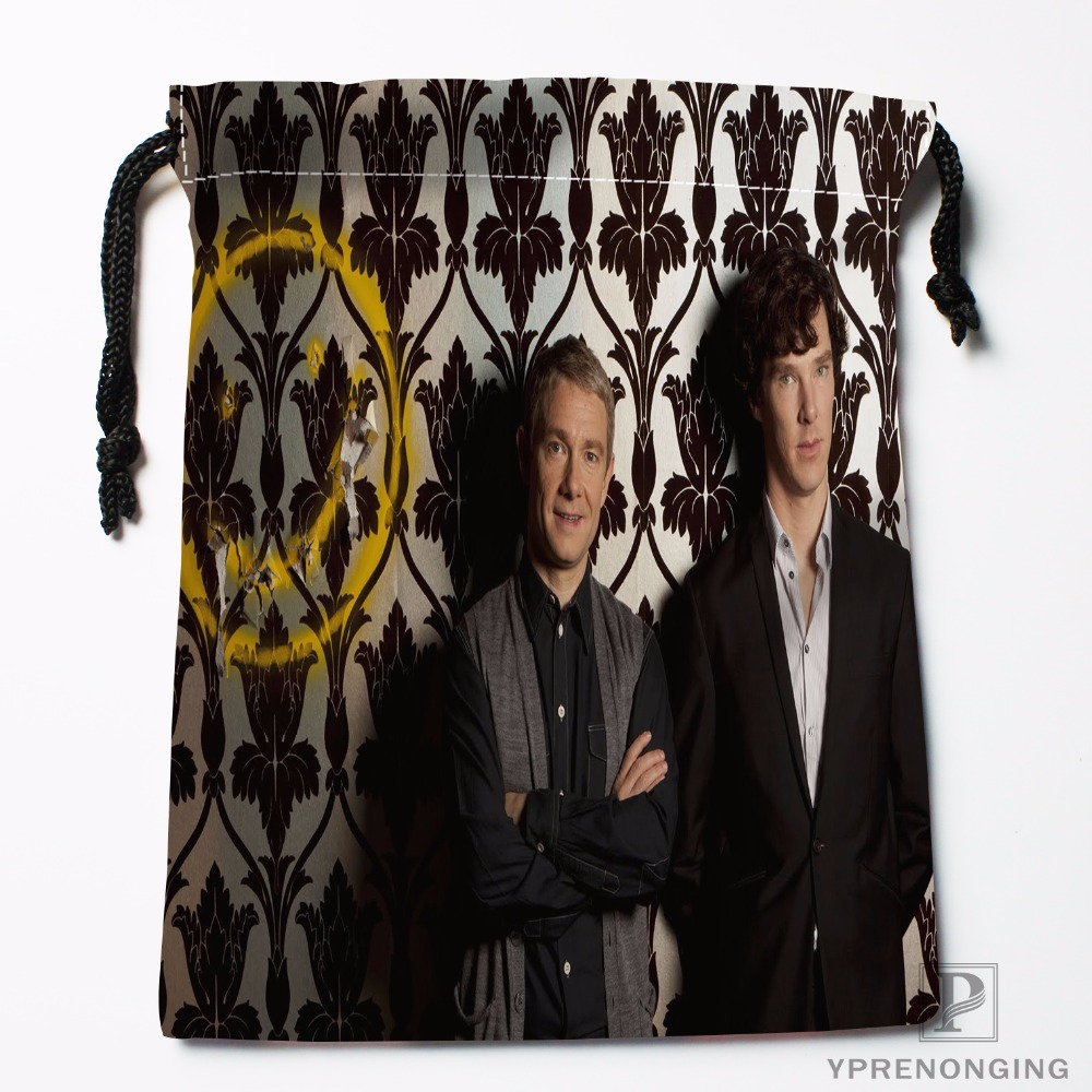 Custom Sherlock Holmes Drawstring Bags Printing Travel Storage Mini Pouch Swim Hiking Toy Bag Size 18x22cm#0412-11-99