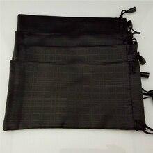 100 Stks/partij Bril Case Soft Waterdicht Plaid Doek Zonnebril Zak Glazen Pouch Zwart Groothandel Goede Kwaliteit Y90