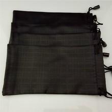 100ピース/ロットメガネケースソフト防水格子縞の布サングラスバッグメガネポーチ黒色卸売良質Y90