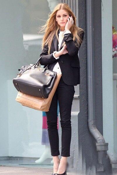 Eccezionale 2015 tailleur pantalone pantaloni donna abiti blazer set usura del  VJ22