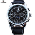 Luxury Fashion Automatic Self Wind Men's Watches Moon Phase Full Calendar Mechanical Watches uhren