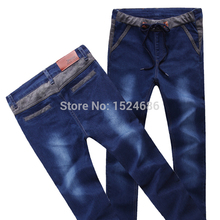 2015 SS Mens Pants Casual Fashion Classic Style Spliced Panelled Twill Vintage Wash Men Trousers Size 27-36 912