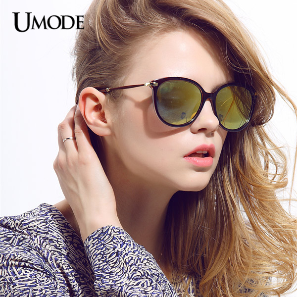 5df8d31ac Umode Oversized Cat Eye Black Frame Blue Green Flash Mirrored Women  Sunglasses for Fashion Female Gafas Feminino Oculos SW0095