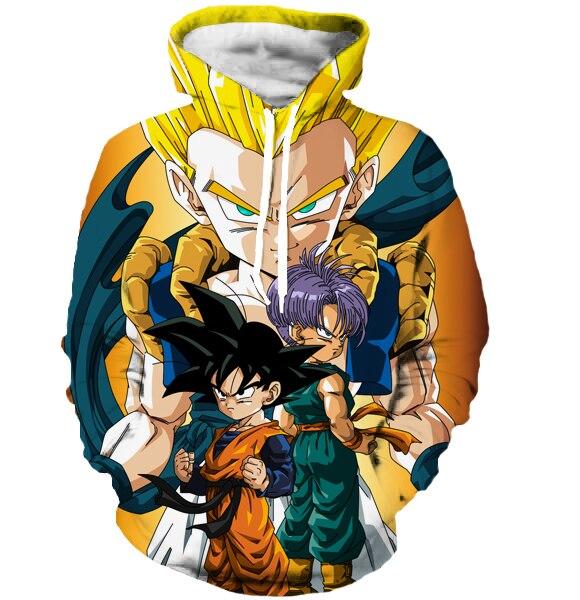 Men Women Long Sleeve Goku 3D Sweatshirt Hoodies
