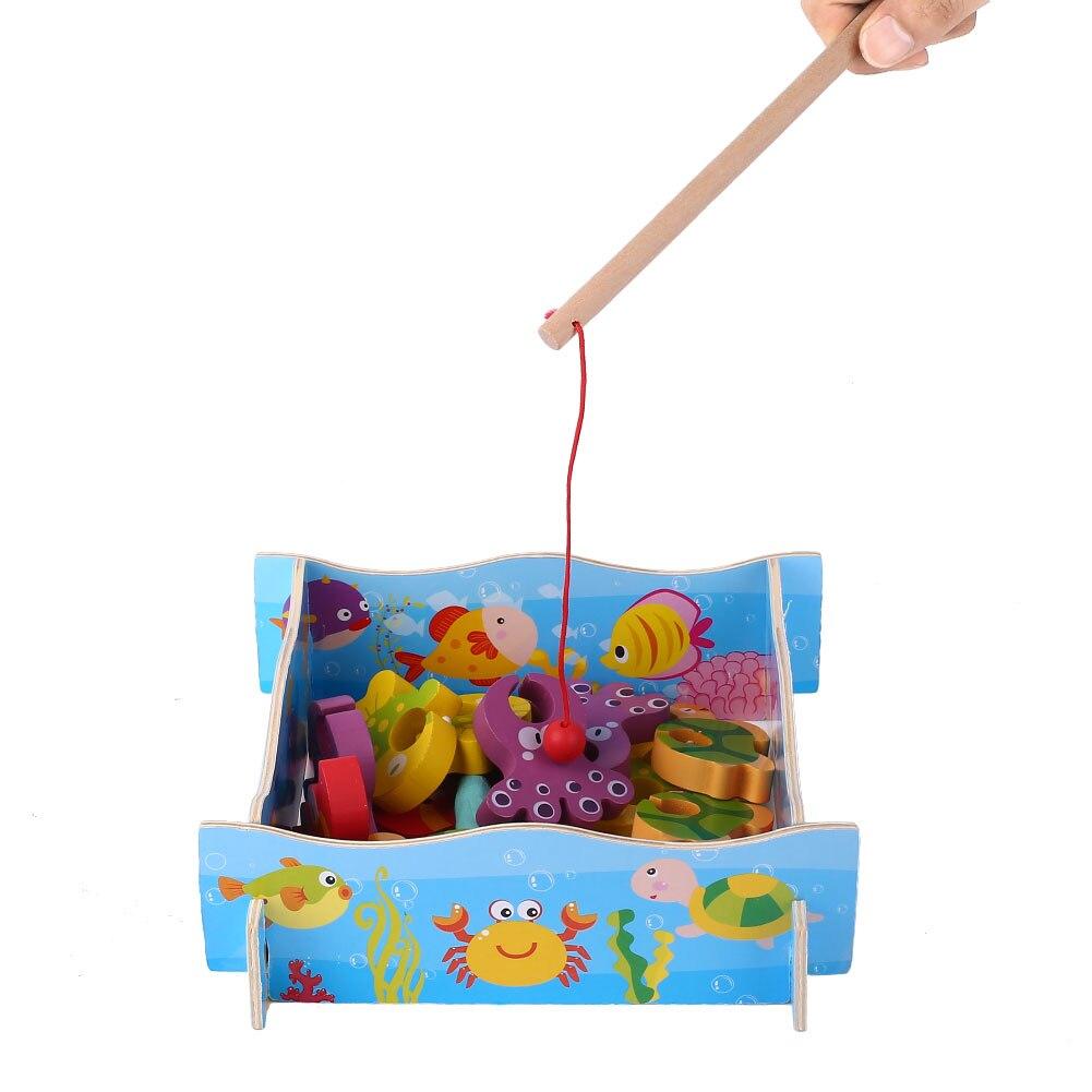 Деревянный новый Дизайн Игрушечная Рыбалка ни один магнит Детские Рыбалка игры Развлечения