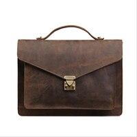 Neweekend Vintage Men S Genuine Leather Casual Briefcase Big Business Handbag Cowhide Laptop Handbag Messenger Bag