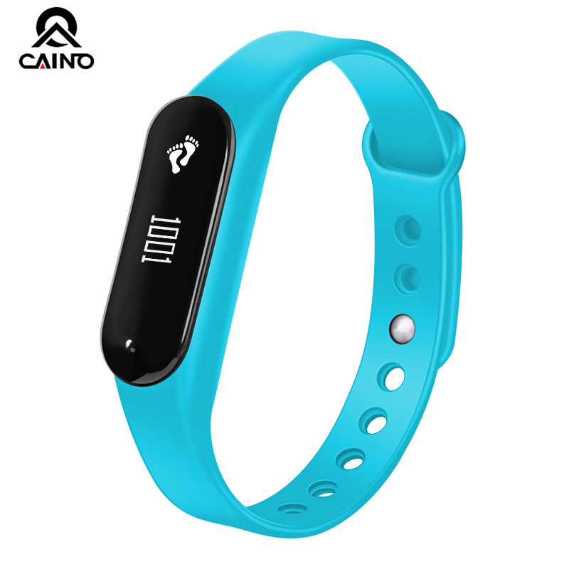 CAINO Heart Rate LED Minitor Smart watch Sport Band Bluetooth Waterproof Fitness Sleep Pedometer Smart Wristband App to Phone professional heart rate sleep track smart wristband watch with colorful ui 831