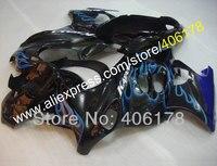 Лидер продаж, GSX750F GSX600F для Suzuki Katana Обтекатели GSX750 600f 2005 2006 голубого пламени Спортбайк Мотоцикл Обтекатели