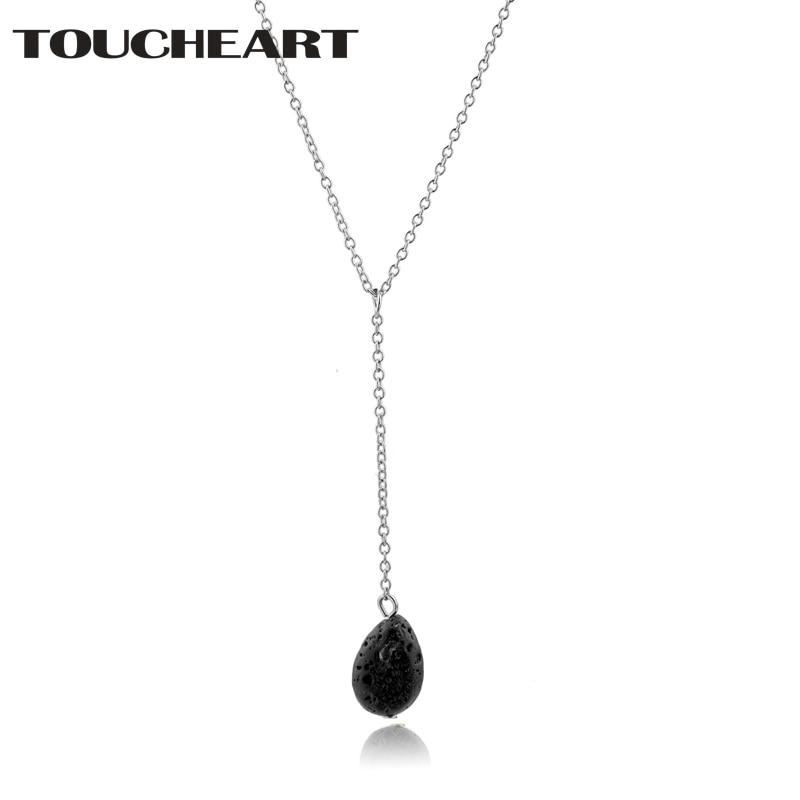TOUCHEART Designer Water Drop Lava Bead Necklaces & Pendants Long Necklaces For Women Charm luxury Lava Stone Necklace SNE180028