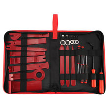ABEDOE 22pc Set Car Metal Plastic Trim Removal Tool Audio Door Panel Open Molding Set Kit Pouch Pry Tool Auto Interior Hand Tool(China)