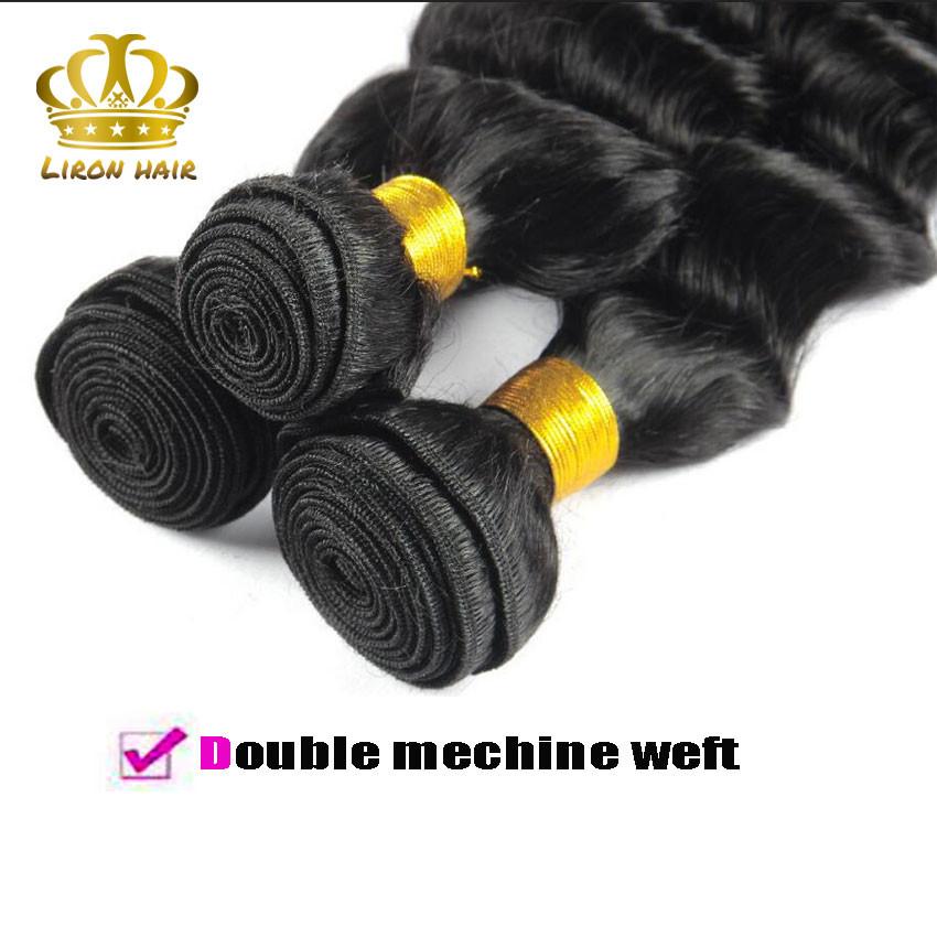 Brazilian Loose Deep Human Hair 3 Bundles Lot Brazilian Loose Deep Wave Virgin Hair Weaves Grade 8A Stema Hair Product More Wavy (5)