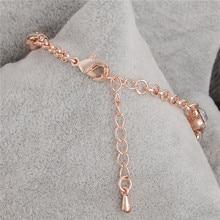 Rose Gold Bracelet Zircon Crystal Women Jewellery