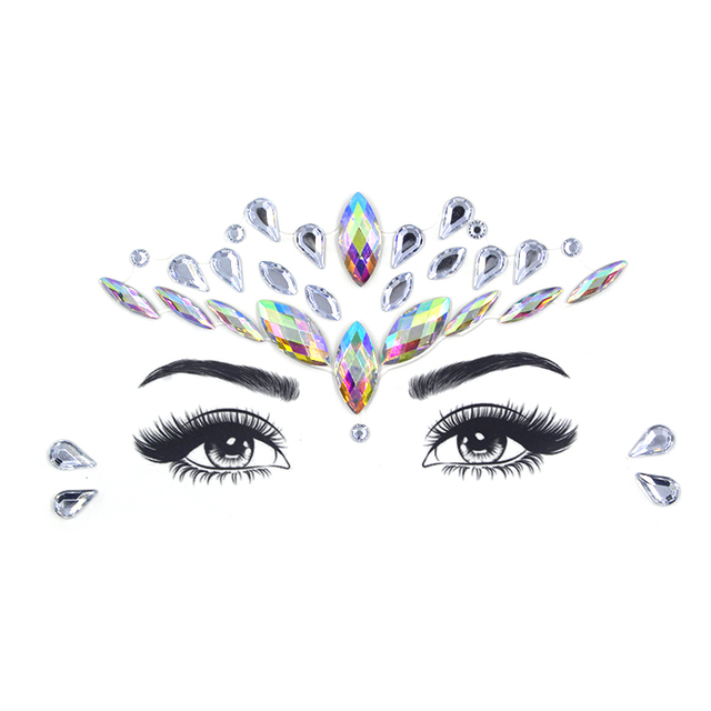 Face jewels sticker Make Up Adhesive Temporary Tattoo  Body Art Gems Rhinestone Stickers for  Festival Party 4
