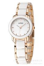 2016 New Eyki Kimio 2016 mesdames Imitation montre en céramique luxe Bracelet en or montres avec un beau Bracelet femmes se habillent en alliage montre