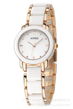2016 New Eyki Kimio 2016 Ladies Imitation Ceramic Watch Luxury Gold Bracelet Watches with Fine Alloy Strap Women Dress Watch