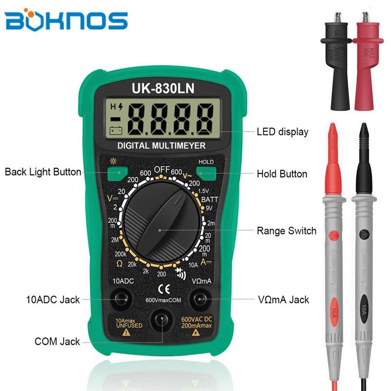 Mini LCD Digital Voltmeter Ohm Multimeter AC//DC Voltage Multi Tester Meter