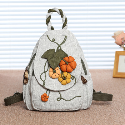 Fashion String Appliques Preppy Style Backpacks!Nice Bohemian Floral Appliques Women Backruck Hot National Canvas Cover Backpack