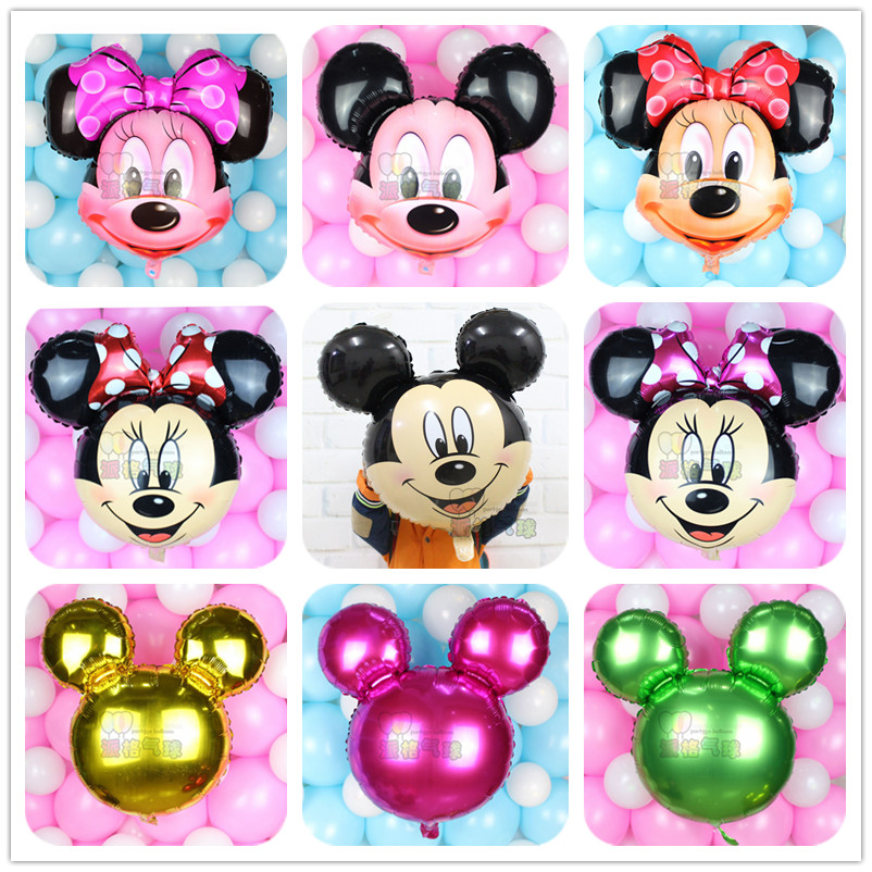 1pcs cute mickey minnie mouse balloons birthday party for Balloon decoration minnie mouse