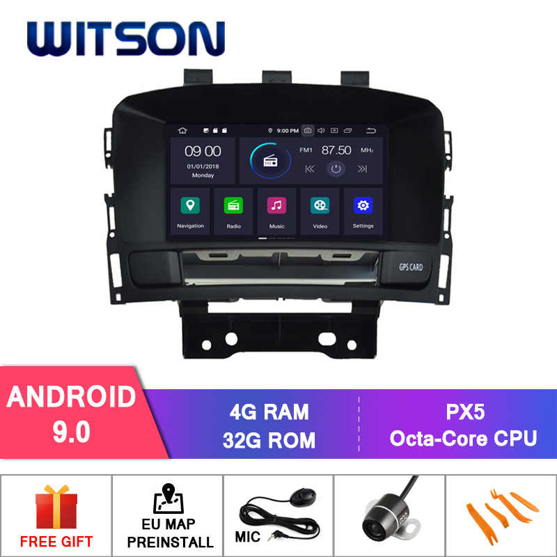 WITSON Android 9,0 Восьмиядерный (Восьмиядерный) 4G ram автомобильный dvd-плеер gps для OPEL ASTRA J автомобильное аудио-радио gps плеер аудиосистема