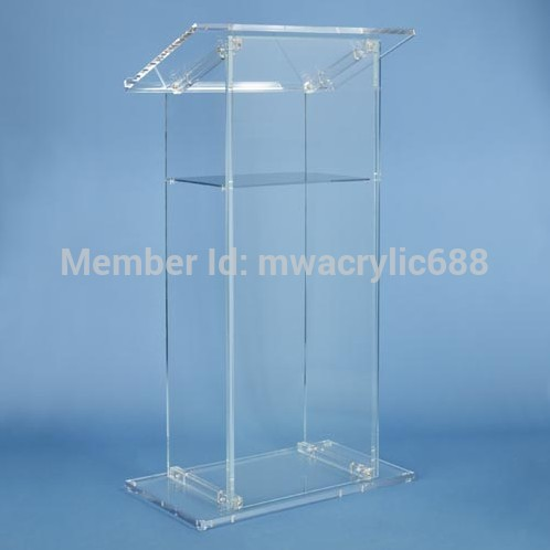 Free Shiping High Quality Modern Design Beautiful Cheap Acrylic Lectern Acrylic Pulpit