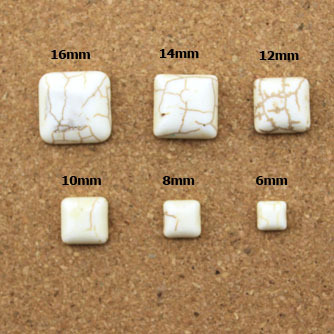 Creative 12mm 50pcs White Square Half Flat Back Cabochons Beads Diy Jewelry Decoration Craft Scrapbooking Accessories Ha-12 Beads Jewelry & Accessories