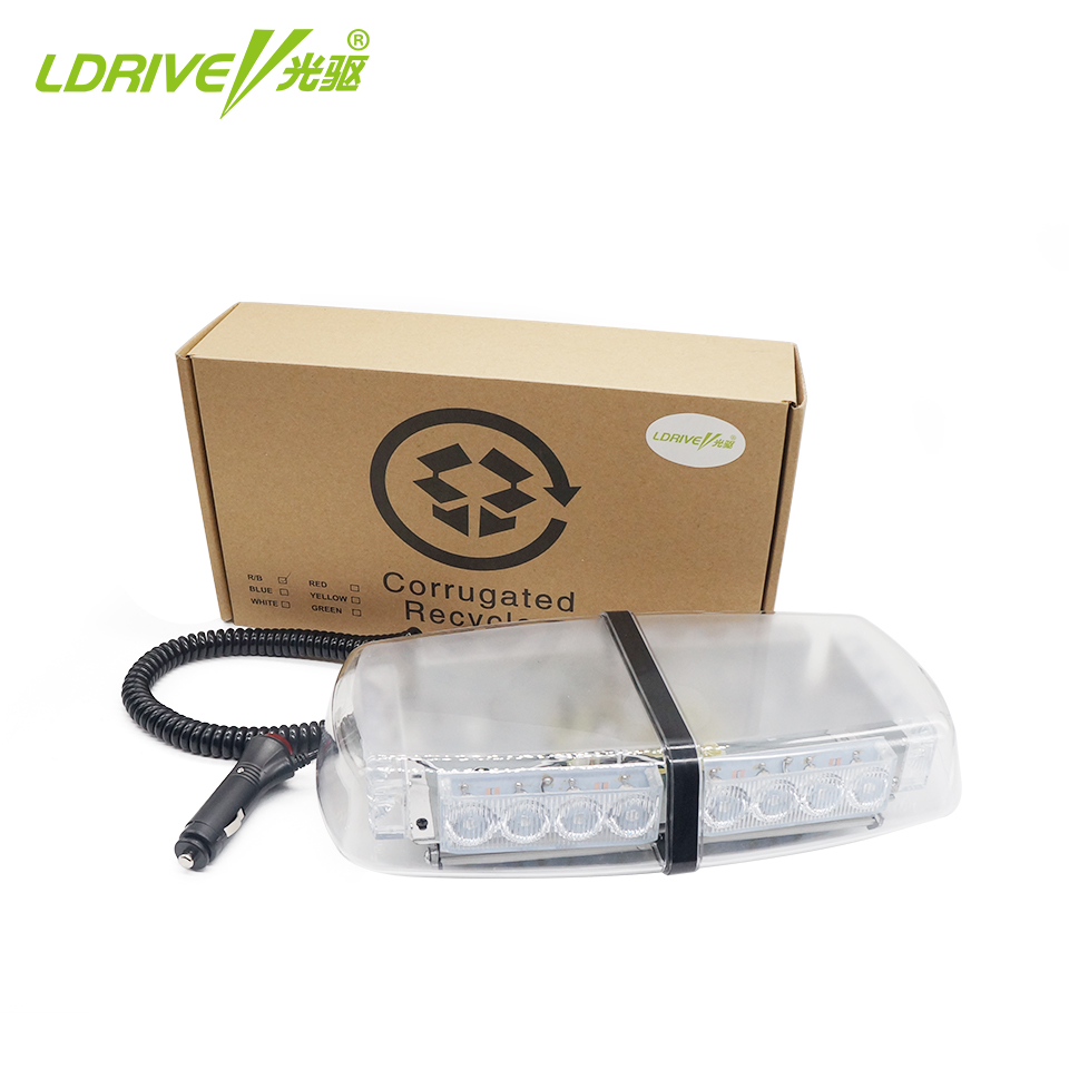 LDRIVE 12-24V Yellow Red Emergency Police LED Strobe Warning Beacon Light Security Alarm Strobe Signal for School Bus Truck Cars 4x6 12 led super bright 12v 24v led strobe emergency warning light police flashing lightbar grille truck beacon led side lights