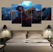 RWBY Collection Canvas Wall Art Painting Anime HD Print 5 Piece Modern Decor For Living Room Artwork