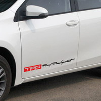 3 Pairs Customization TRD Sport Door Stickers Decal Car Styling For TOYOTA Corolla 2014 Avensis Rav4