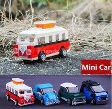 4 шт. T1 Mini Cooper Смарт Volkswagen Beetle Игрушки Строительных Блоков Лепин Создатель Decool
