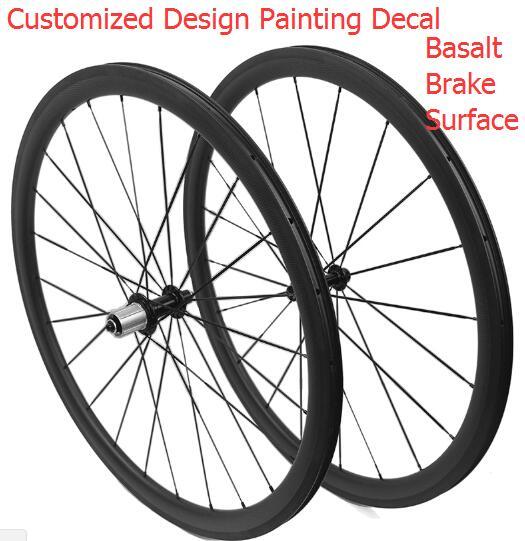 width 23mm 700c carbon road bike clincher tubular wheelset 38mm 50mm 60mm 88mm with hub power r13
