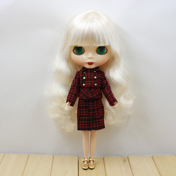 free shipping blyth doll icy licca body 6025 Elegant white hair normal body toy gift 1/6 30cm все цены