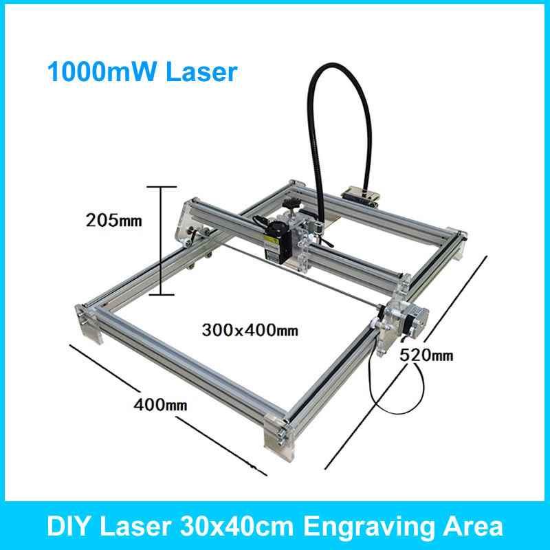 DIY MINI Laser Engraver Engraving Machine 1000mW 30*40cm carving sizeDIY MINI Laser Engraver Engraving Machine 1000mW 30*40cm carving size