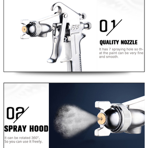 Image 4 - 400ML Spray Gun Professional Pneumatic Airbrush Sprayer Alloy Painting Atomizer Tool With Hopper For Painting Cars by PROSTORMER