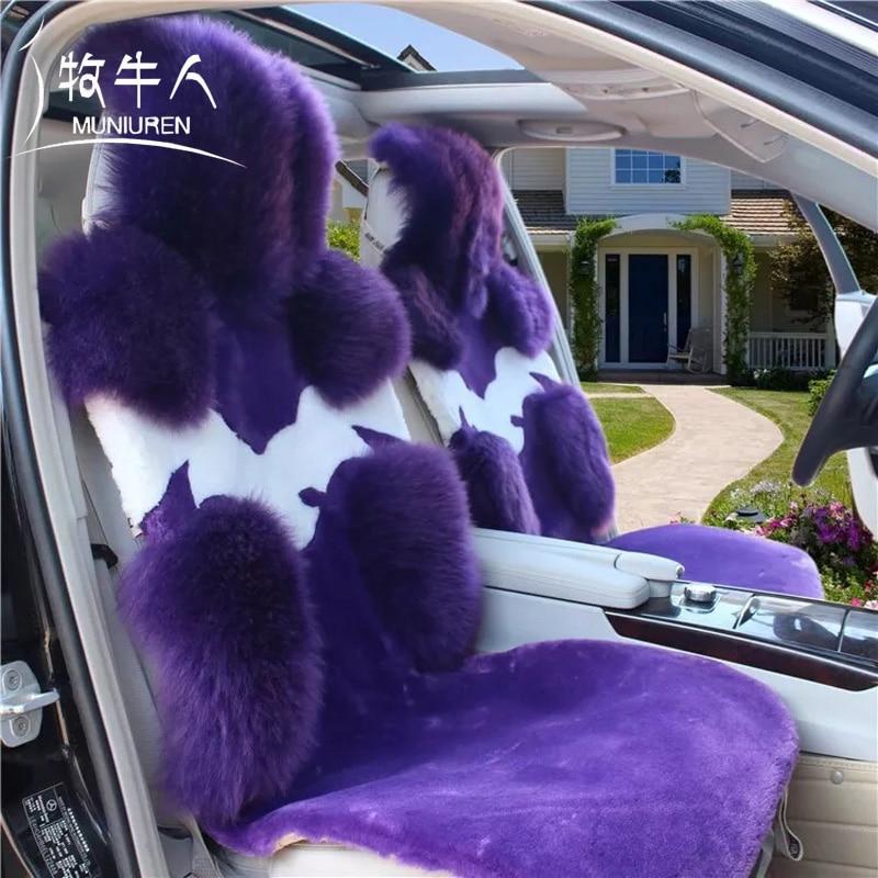 MUNIUREN 1 unids Australia Lana Asiento de Coche de Coche Cojín Del - Accesorios de interior de coche - foto 3
