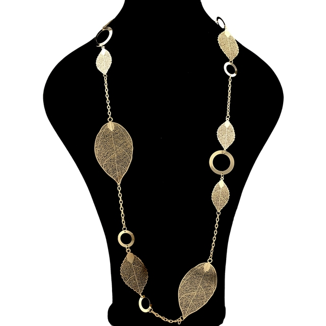 chicvie винтажные длинные массивные ожерелья золотого цвета фотография
