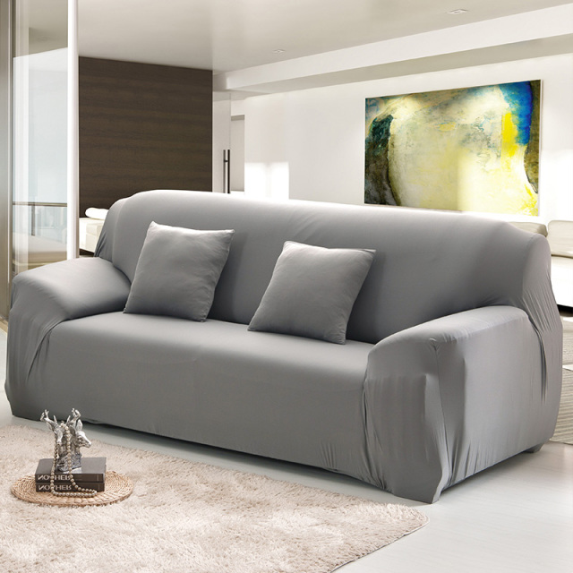 Merveilleux All Inclusive Sofa Cover Elastic Leather Sofa Cover Slip Resistant Solid  Color Four Season