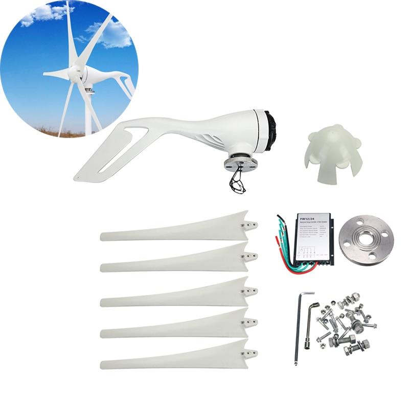Éolienne générateur cinq pales de vent 400W éolienne générateur 600W contrôleur étanche adapté pour la maison ou le Camping 12 V/24 V