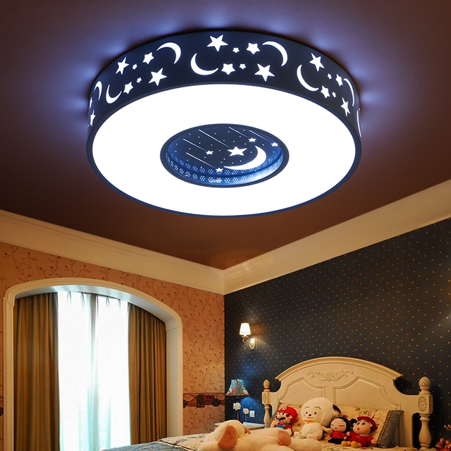 toiles led chambre enfants plafond lampe chambre fille creative distance bleu rose blanc rond. Black Bedroom Furniture Sets. Home Design Ideas