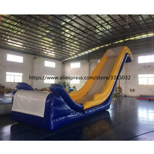 Popular giant inflatable yacht water slide, inflatable yacht floating water slide