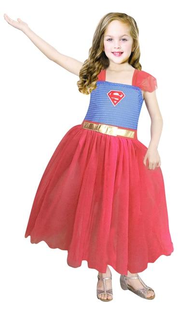 Superman Prinzessin Kostüm Kleines mädchen halloween party kleid ...