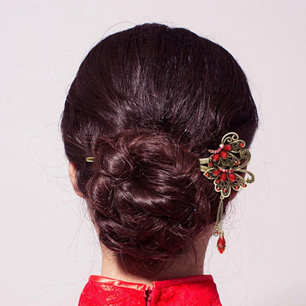 Vintage Retro Flower Tassel Handmade Hair Sticks Chopsticks Chinese Bridal Wedding Tiara Jewelry For Women In From